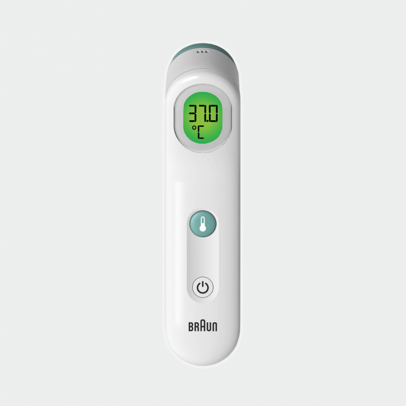 Braun Forehead Thermometer Front Angle